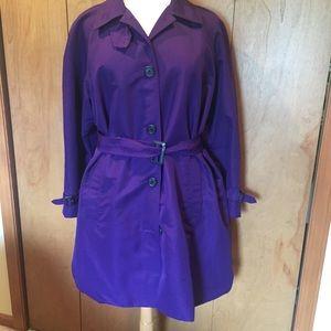 3X Ralph Lauren Purple trench coat
